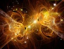 Fiery nebula. Where stars give birth Stock Photography