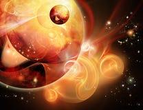 Fiery nebula Royalty Free Stock Image
