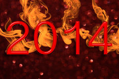 Fiery New Year Royalty Free Stock Photo
