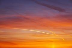 Fiery orange colorful sunset sky Royalty Free Stock Photo