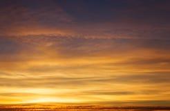 Fiery orange colorful sunset sky. Royalty Free Stock Photo