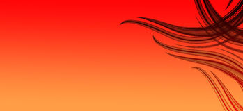 Fiery orange red abstract Royalty Free Stock Photography