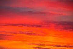 Fiery orange sunrise sky. Background Royalty Free Stock Image