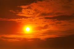 Fiery orange sunset Royalty Free Stock Images