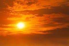 Fiery orange sunset Royalty Free Stock Photo