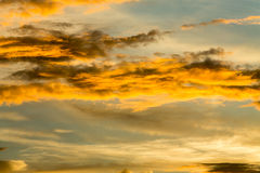 Fiery orange sunset sky Royalty Free Stock Photo