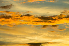 Fiery orange sunset sky Royalty Free Stock Photos