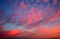 Fiery orange sunset sky. Royalty Free Stock Image