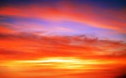 Fiery orange sunset sky. Stock Photography