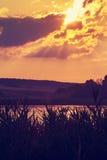 Fiery orange sunset sky. Royalty Free Stock Images