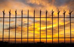 Fiery orange sunset sky. Beautiful sky. Royalty Free Stock Images