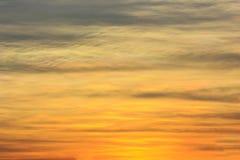 Fiery orange sunset sky Stock Photography