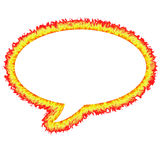 Fiery Outlined Speech Bubble. Isolated in white Royalty Free Stock Images