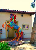 Fiery Painted Horse Statue Royalty Free Stock Image