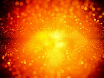 Fiery particles in space Royalty Free Stock Photos