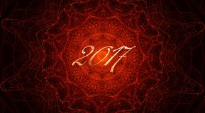 Fiery pattern for 2017 Royalty Free Stock Photos