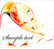 Fiery pen. Vector illustration of the fiery pen Royalty Free Stock Photography