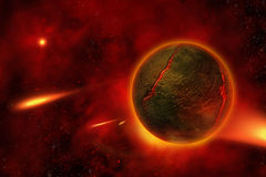 Fiery-Planet. The Fiery Planet - Cosmos Collection Royalty Free Stock Photography