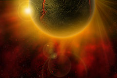 Fiery-Planet. The Fiery Planet - Cosmos Collection Royalty Free Stock Photo