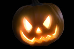 Fiery pumpkin head Stock Photography