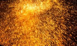 Fiery rain Royalty Free Stock Photo