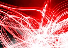 Free Fiery Red And Light White Electric Modern Lighting Design Image Stock Photography - 152935112
