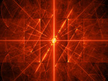 Fiery red glowing laser beams background. Fiery red glowing laser beams, computer generated abstract background, 3D rendering Stock Image