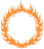 Fiery ring burning. Hoop in the fire vector illustration Stock Image