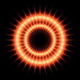 Fiery ring. Fiery neon ring in emptiness Stock Photography