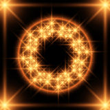 Fiery ring. Fiery neon ring in emptiness Royalty Free Stock Images