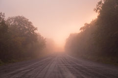Fiery Road Landscape Royalty Free Stock Image