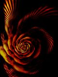 Fiery rose, the flower of passion. Abstract background Royalty Free Stock Images