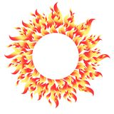Fiery round bright pattern element. On a white background Stock Photos