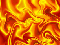 Fiery Satin. Abstract background in fiery yellow and orange Stock Images