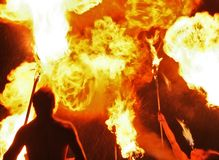 Fiery show royalty free stock photography