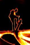 Fiery Skateboarder Stock Image