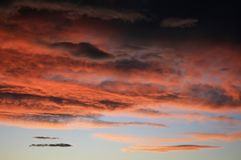 Fiery Sky royalty free stock images
