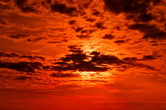 Fiery sky Royalty Free Stock Image