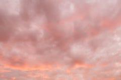 Fiery sky. Beautiful orange sunset sky background. Stock Photo