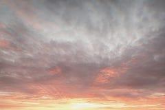 Fiery sky. Beautiful orange sunset sky background. Stock Photography