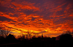 Fiery sky Royalty Free Stock Photos