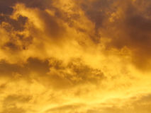 Fiery Sky At Sunset Stock Photo