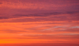 Fiery sky after sunset Royalty Free Stock Image