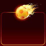 Fiery soccer ball. Background for your text (only gradients used Royalty Free Stock Image