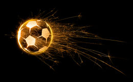 Fiery Soccer Ball Stock Images