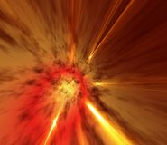 Fiery Space Stock Photo