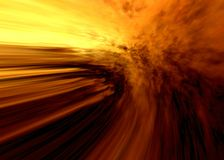 Fiery space. Abstraction illustration for various design artworks Stock Image