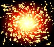 Fiery Spark Twirl Stock Image