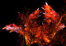 Fiery Splash Stock Image