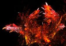 Fiery Splash. Abstract fractal background design, horizontal Stock Image